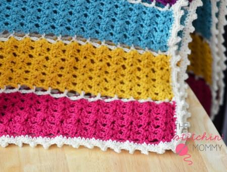 Jeweled Lattice Afghan - Free Pattern www.thestitchinmommy.com #crochet #afghan #freepattern