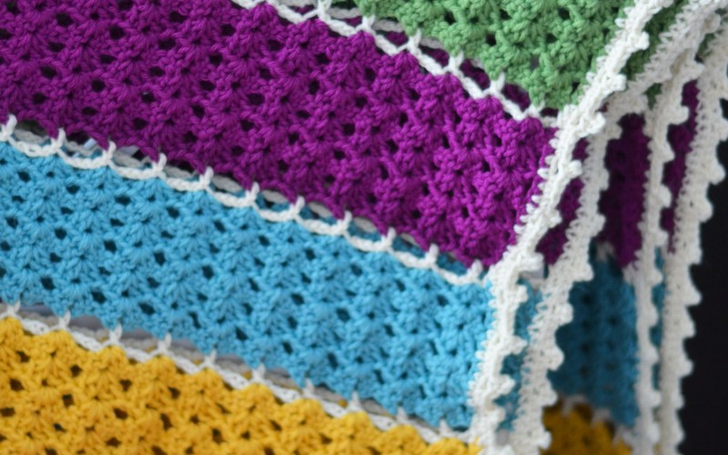 Jeweled Lattice Afghan – Free Pattern