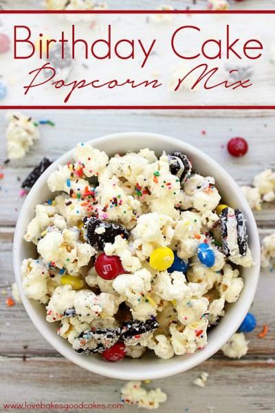 Birthday Cake Popcorn Mix