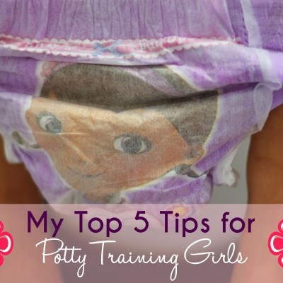 My Top Five Tips for Potty Training Girls