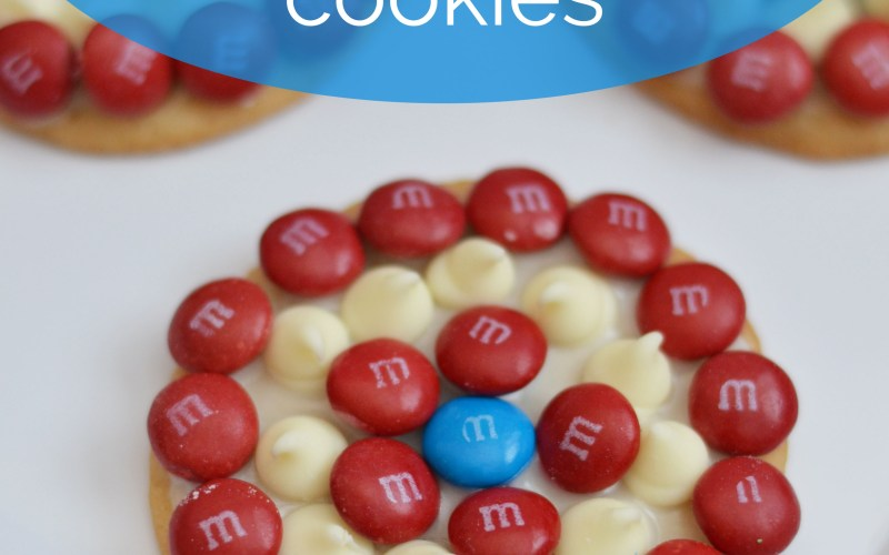 M&Ms Captain America Cookies