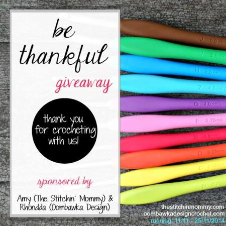 Be Thankful Giveaway by Oombawka Design and The Stitchin' Mommy