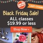Craftsy Pre-Black Friday Sale!