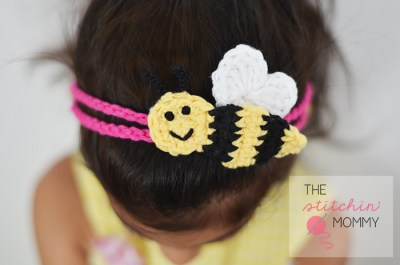 """Bee Mine"" Crochet Headband - Free Pattern 