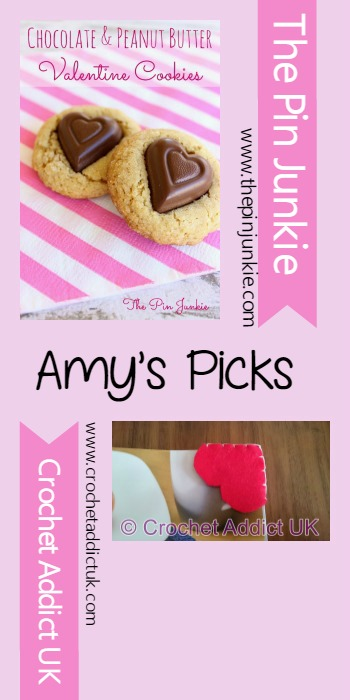 Amy's Picks |Chocolate & Peanut Butter Valentine Cookies/Valentine Bookmarks | Tuesday PIN-spiration Link Party
