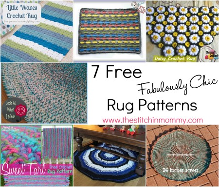 7 Free Fabulously Chic Crochet Rug Patterns | www.thestitchinmommy.com #crochet #rug #forthehome