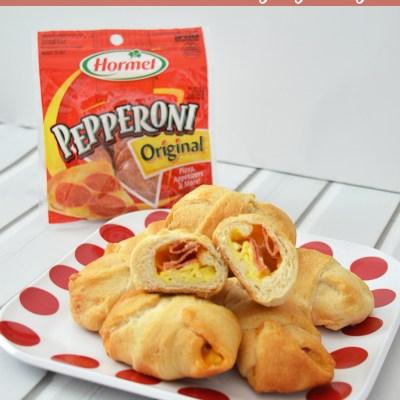 Hormel Pepperoni Breakfast Crescent Rolls #PepItUp