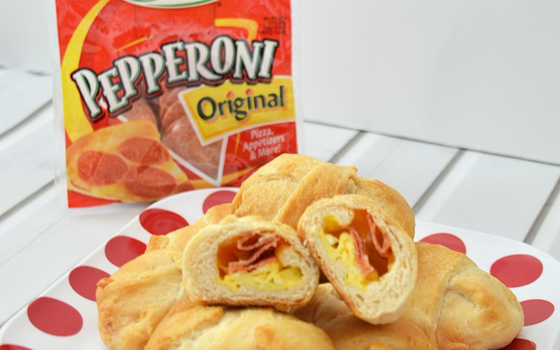 Hormel Pepperoni Breakfast Crescent Rolls #PepItUp