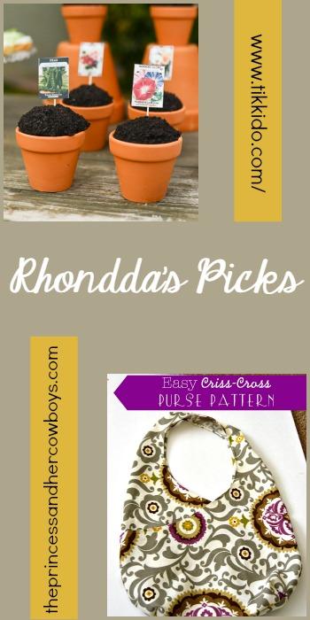 Rhondda's Picks  Easy Garden Cupcakes Tutorial/Easy Criss-Cross Purse Pattern   Tuesday PIN-spiration Link Party
