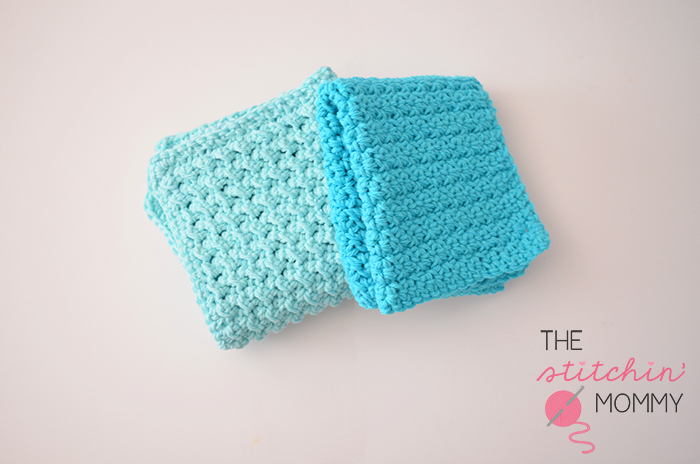 Easy Textured Washcloths - Two Free Patterns - The Stitchin Mommy