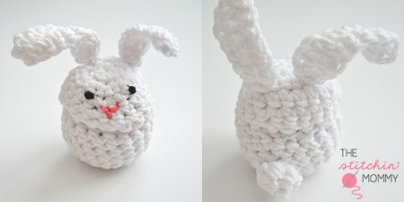 Bunny Eos Lip Gloss Pouch - Free Pattern | www.thestitchinmommy.com #Easter #bunny #pouch #Eos #lipgloss #Easterbasket