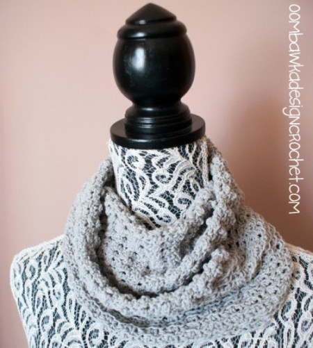 Soft as a Cloud One Skein Cowl