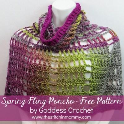 Spring Fling Poncho – Free Pattern