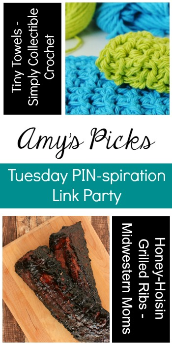 Amy's Picks | Tiny Towels/Honey-Hoisin Grilled Ribs | Tuesday PIN-spiration Link Party www.thestitchinmommy.com