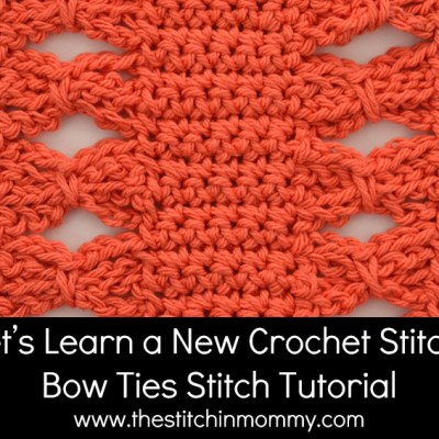 Bow Ties Stitch Tutorial and Afghan Square