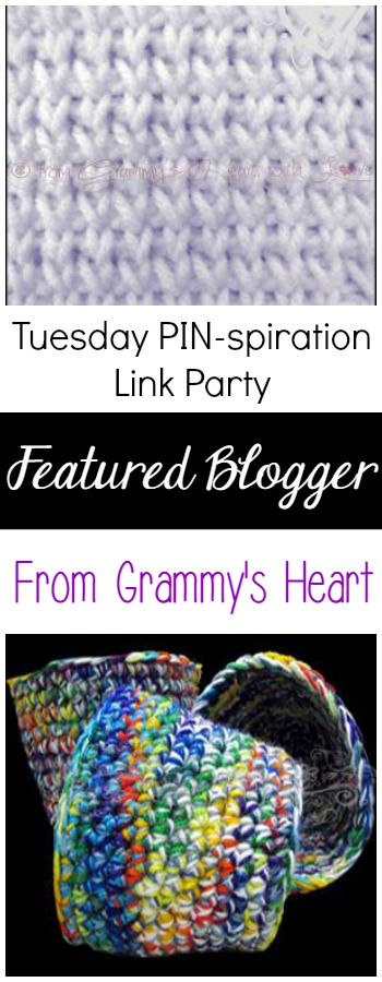 Featured Blogger - From Grammy's Heart   Tuesday PIN-spiration Link Party   www.thestitchinmommy.com