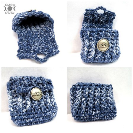 Ribbed Crochet Pouch - Free Pattern by Goddess Crochet for The Stitchin' Mommy | www.thestitchinmommy.com