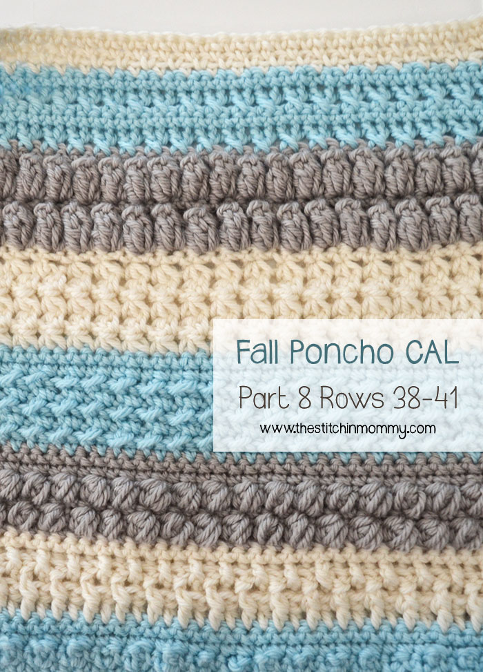 Crochet With Us Fall Poncho CAL Part 8 | www.thestitchinmommy.com