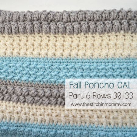 Crochet With Us Fall Poncho CAL Part 6 | www.thestitchinmommy.com