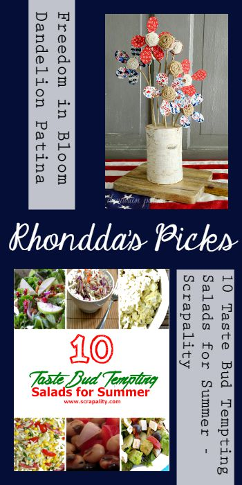 Rhondda's Picks | Freedom in Bloom/10 Taste Bud Tempting Salads for Summer | Tuesday PIN-spiration Link Party www.thestitchinmommy.com
