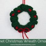 Crochet Christmas Wreath Ornament