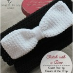 Clutch with a Bow (Night Out Series) – Guest Post by Cream of the Crop Crochet