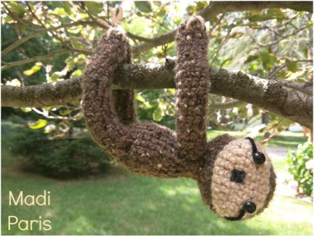 Crochet Sloth Plush Pattern - Free Pattern by Madi Paris exclusively for The Stitchin' Mommy | www.thestitchinmommy.com