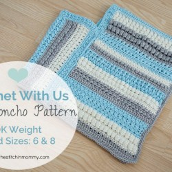 Crochet With Us Fall Poncho Pattern - Child Sizes 6 & 8 | www.thestitchinmommy.com