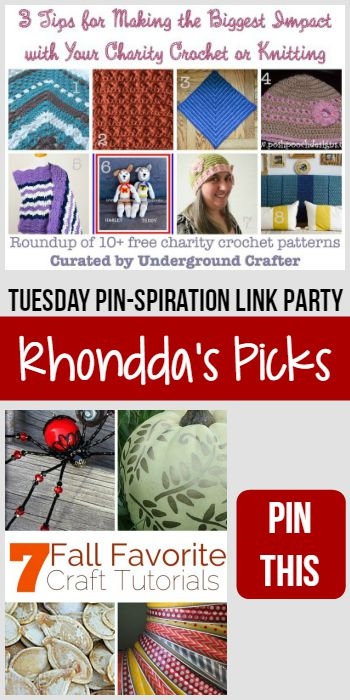 Rhondda's Picks   3 Tips for Making the Biggest Impact with Your Charity Crochet or Knitting/7 Fall Favorite Craft Tutorials   Tuesday PIN-spiration Link Party www.thestitchinmommy.com