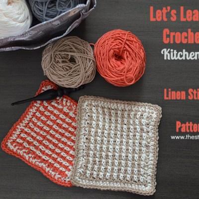 Linen Stitch Tutorial and Dishcloth Pattern