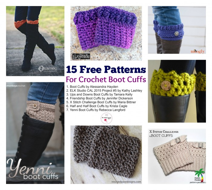 15 Free Patterns for Crochet Boot Cuffs | www.thestitchinmommy.com