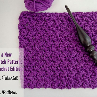Let's Learn a New Crochet Stitch Pattern Kitchen Crochet Edition – Grit Stitch Tutorial and Dishcloth Pattern | www.thestitchinmommy.com