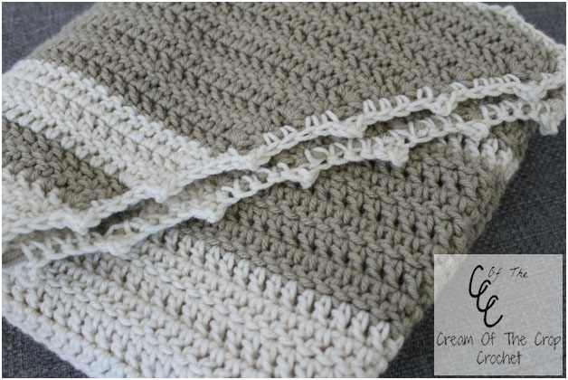 Simple Striped Shawl - Free Pattern by Guest Contributor Cream of the Crop Crochet | www.thestitchinmommy.com