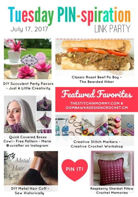The NEW Tuesday PIN-spiration Link Party Week 46 (7/17/2017) - Rhondda and Amy's Favorite Projects   www.thestitchinmommy.com