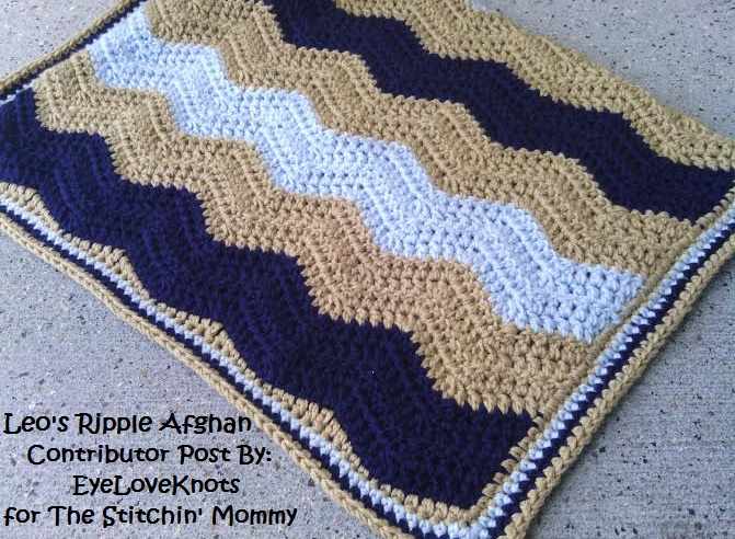 Leos Ripple Afghan Free Crochet Pattern The Stitchin Mommy