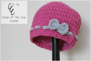 My First Hat - Free Crochet Pattern by Guest Contributor Cream of the Crop Crochet for The Stitchin' Mommy | www.thestitchinmommy.com