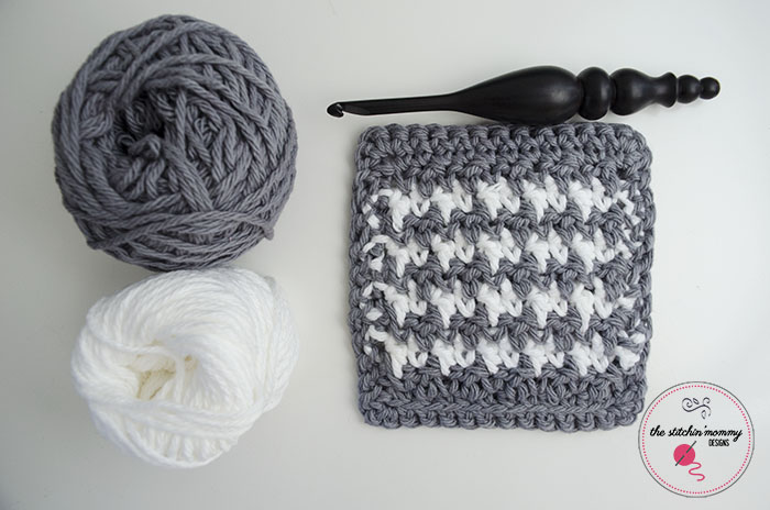 Houndstooth Stitch Tutorial and Coaster Pattern - The Stitchin Mommy