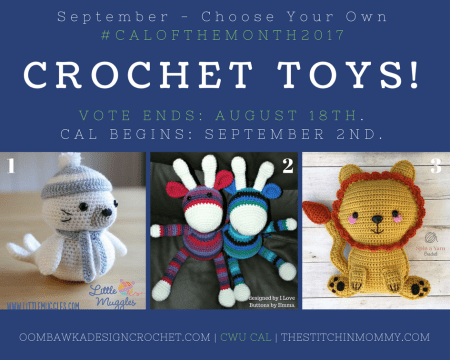 September Vote Post - CWU Choose Your Own CAL Adventure #CALoftheMonth2017 | www.thestitchinmommy.com