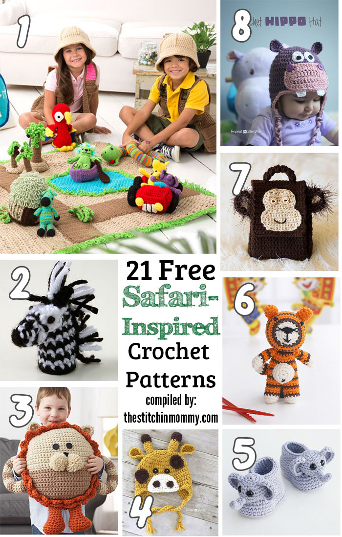 21 Free Safari-Inspired Crochet Patterns - The Stitchin Mommy