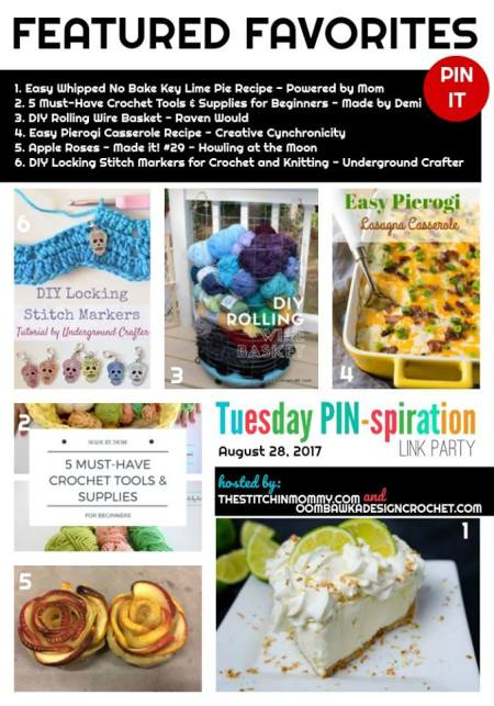 The NEW Tuesday PIN-spiration Link Party Week 52 (8/28/2017) - Rhondda and Amy's Favorite Projects | www.thestitchinmommy.com