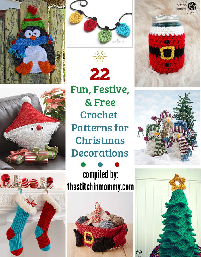 22 Fun, Festive, & Free Crochet Patterns for Christmas Decorations ...