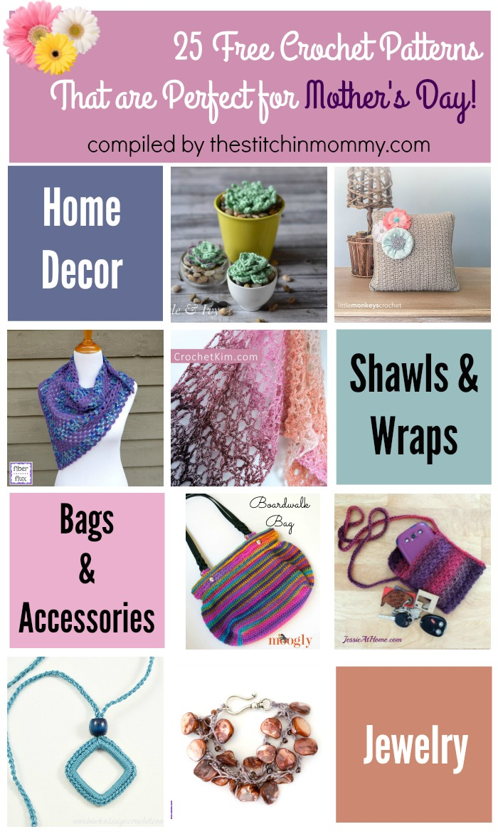25 Free Crochet Patterns That Are Perfect For Mothers Day The
