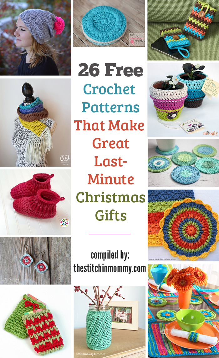 26 Free Crochet Patterns That Make Great Last Minute