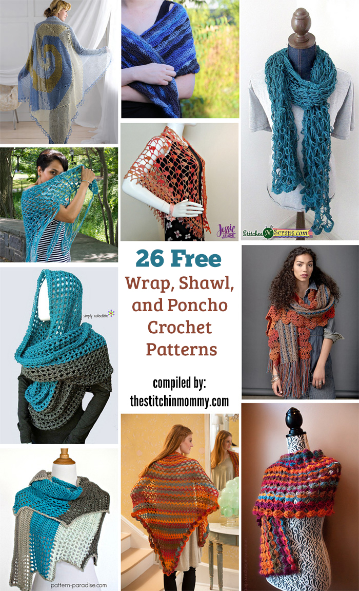 26 Free Wrap Shawl And Poncho Crochet Patterns The Stitchin Mommy