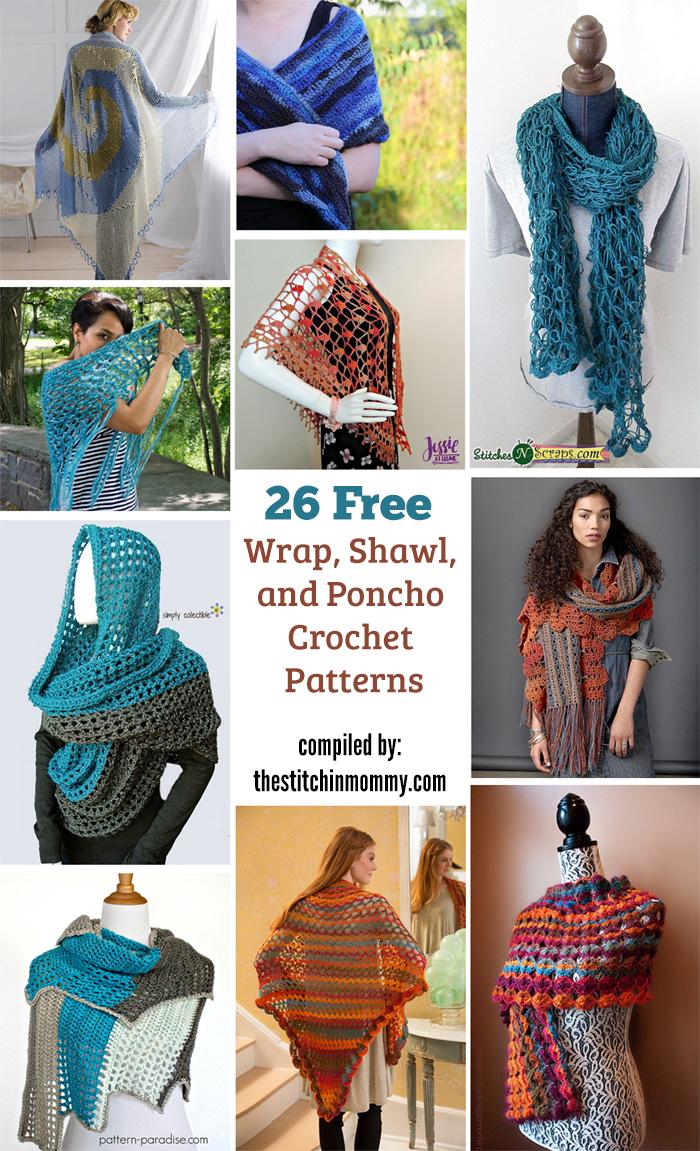 26 Free Wrap, Shawl, and Poncho Crochet Patterns - The Stitchin Mommy