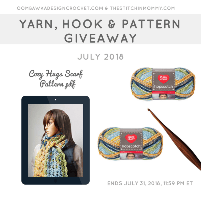 Monthly Yarn, Hook and Pattern Giveaway – July 2018