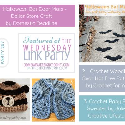 The Wednesday Link Party 267 featuring Halloween Bat Door Mats
