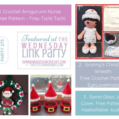 The Wednesday Link Party 275 featuring Amigurumi Nurse Purse