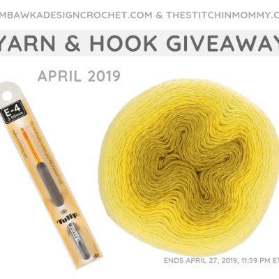Monthly Yarn and Hook Giveaway – April 2019 featuring Scheepjes Whirl and Tulip Etimo