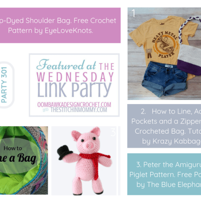 The Wednesday Link Party 301 featuring Dip Dyed Shoulder Bag